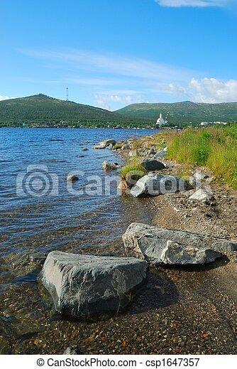 Coast of lake - csp1647357