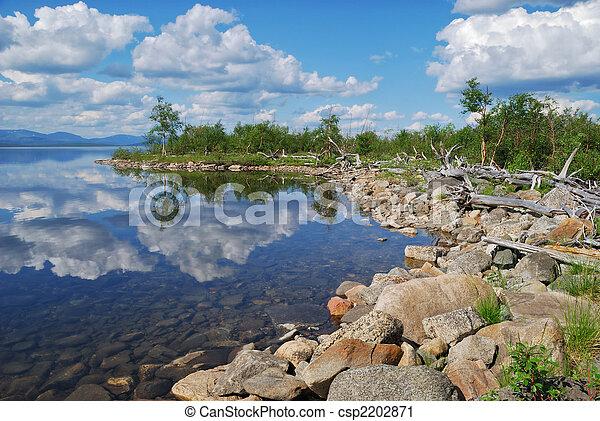 Coast of lake - csp2202871