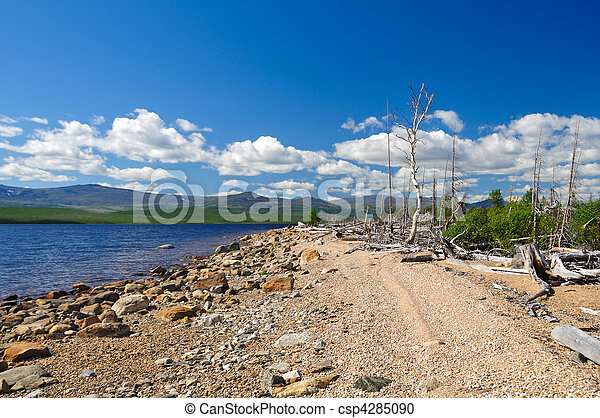 Coast of lake - csp4285090