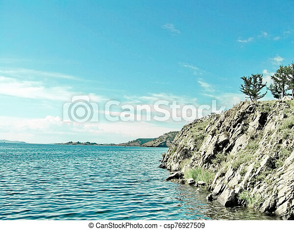 Coast of Lake - csp76927509