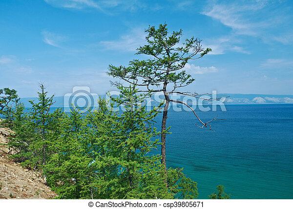 coast of Olkhon island, - csp39805671
