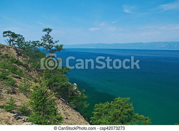 coast of Olkhon island, - csp42073273