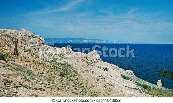 coast of Olkhon island, - csp41848832