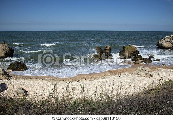 Coast of the Black Sea in Kerch - csp69118150