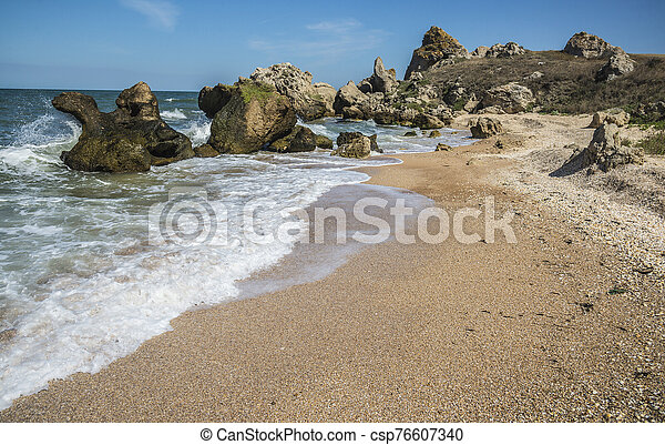 Coast of the Black Sea in Kerch - csp76607340