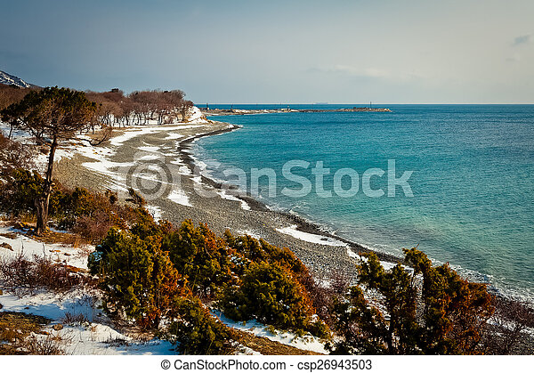 Coast of the Black Sea - csp26943503