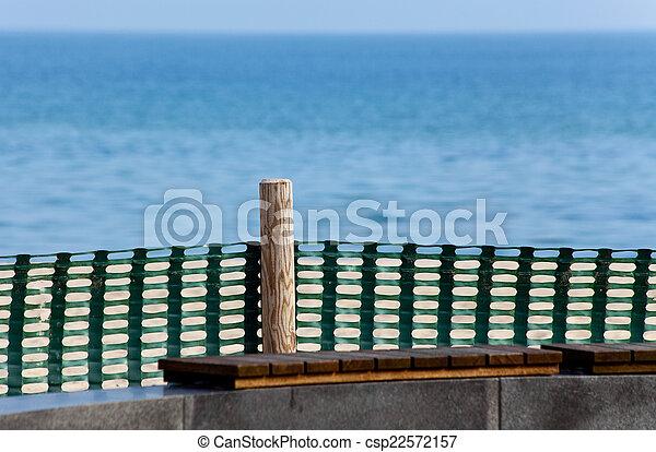 Coast protection near the promenade - csp22572157