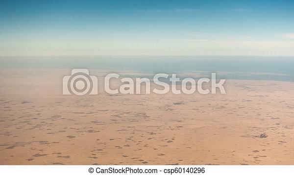 Coastal desert aerial view - csp60140296