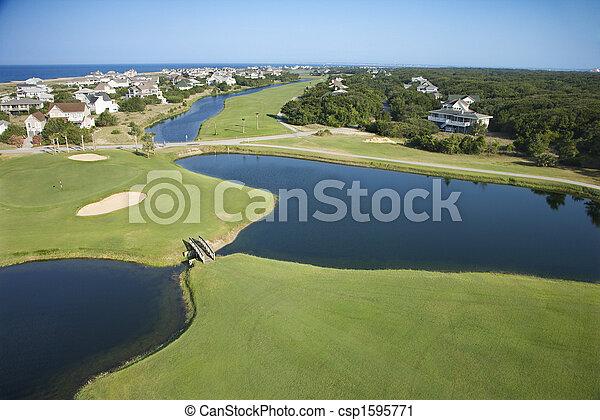 Coastal golf course. - csp1595771