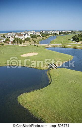 Coastal golf course. - csp1595774
