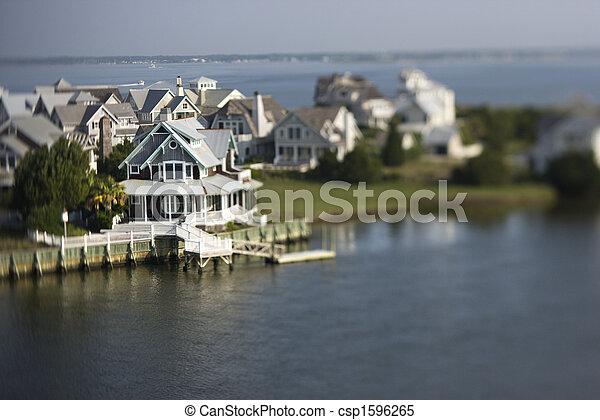 Coastal homes. - csp1596265