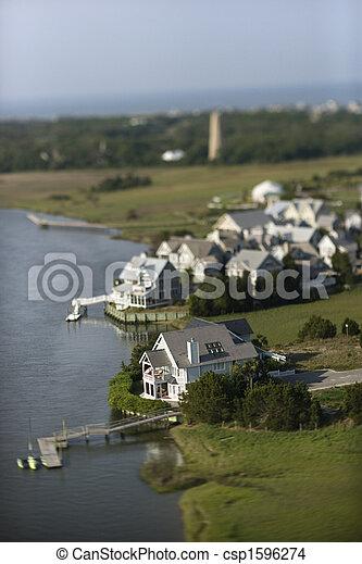 Coastal homes. - csp1596274