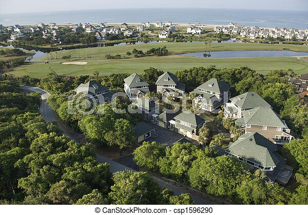 Coastal homes. - csp1596290