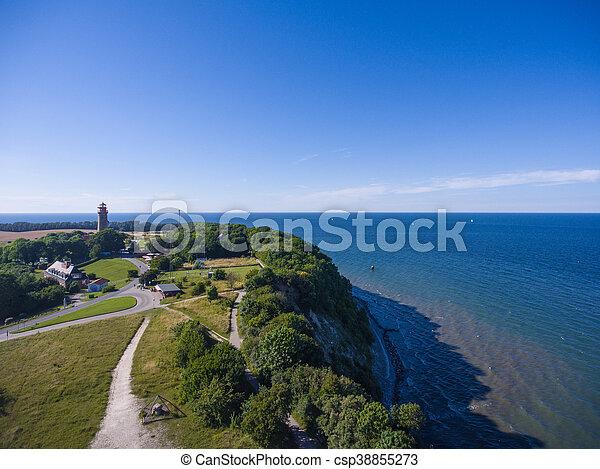 Coastal Landscape at Kap Arkona on Ruegen Island baltic Sea - csp38855273