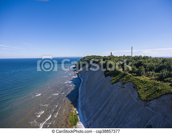 Coastal Landscape at Kap Arkona on Ruegen Island baltic Sea - csp38857377