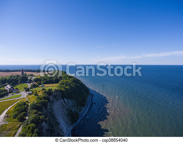 Coastal Landscape at Kap Arkona on Ruegen Island baltic Sea - csp38854040