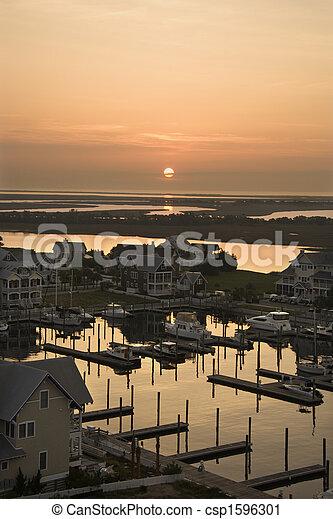 Coastal marina. - csp1596301