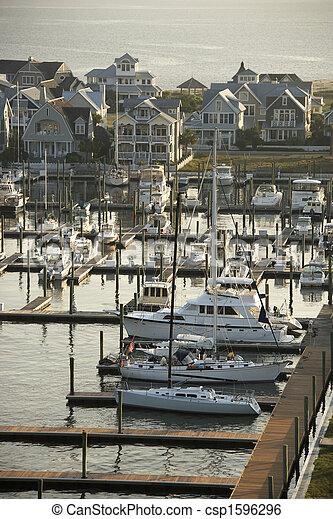 Coastal marina. - csp1596296