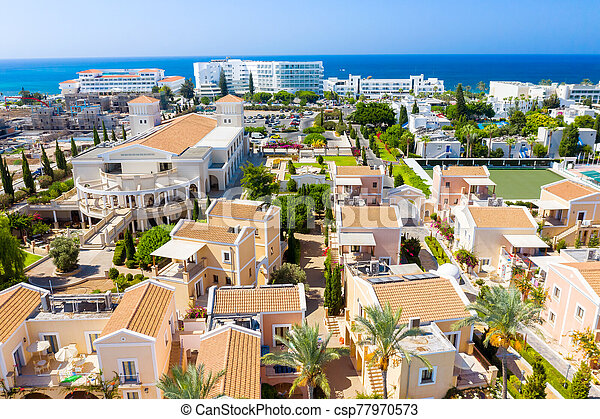 Coastal resort in Geroskipou area, Paphos. Cyprus - csp77970573