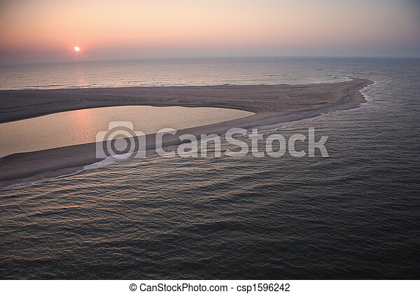 Coastal sandbar. - csp1596242