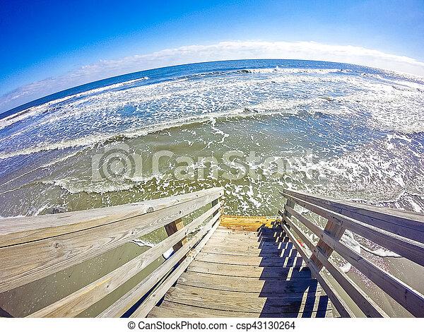 coastal scenes around folly beach south carolina - csp43130264
