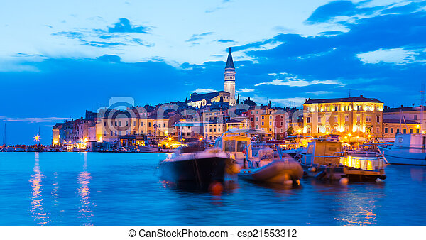 Coastal town of Rovinj, Istria, Croatia. - csp21553312