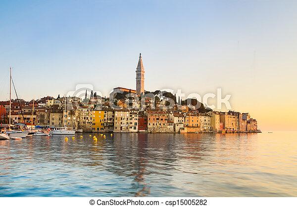 Coastal town of Rovinj, Istria, Croatia. - csp15005282