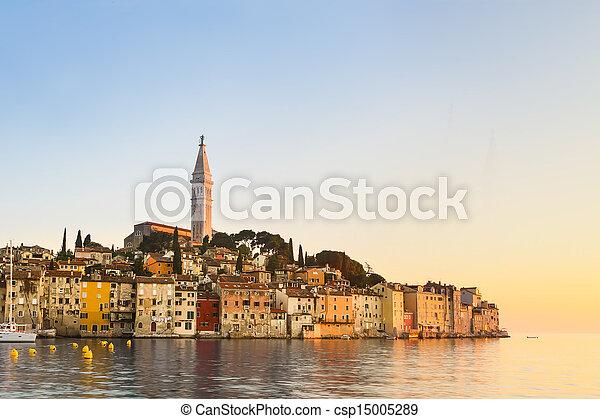 Coastal town of Rovinj, Istria, Croatia. - csp15005289