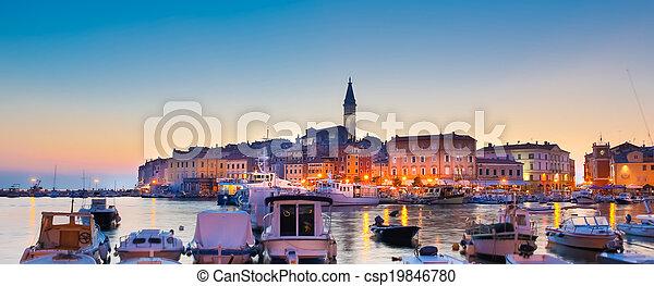 Coastal town of Rovinj, Istria, Croatia. - csp19846780