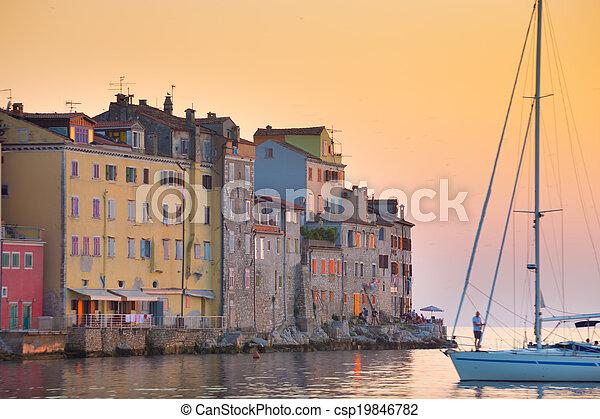 Coastal town of Rovinj, Istria, Croatia. - csp19846782