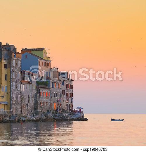 Coastal town of Rovinj, Istria, Croatia. - csp19846783