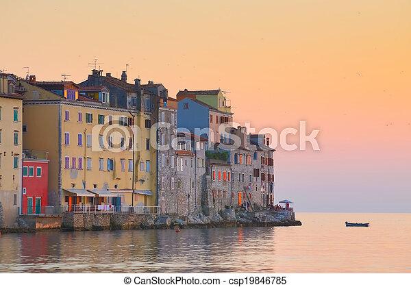 Coastal town of Rovinj, Istria, Croatia. - csp19846785