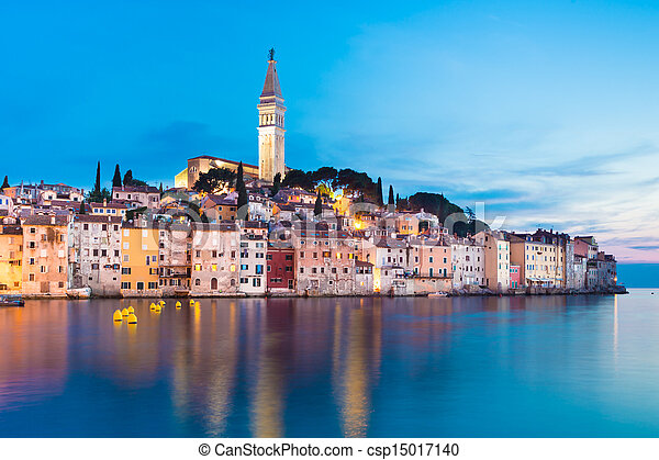 Coastal town of Rovinj, Istria, Croatia. - csp15017140