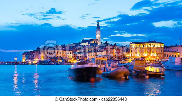 Coastal town of Rovinj, Istria, Croatia. - csp22056443