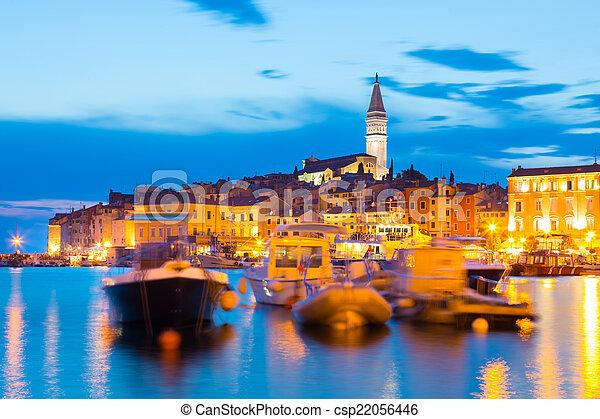 Coastal town of Rovinj, Istria, Croatia. - csp22056446