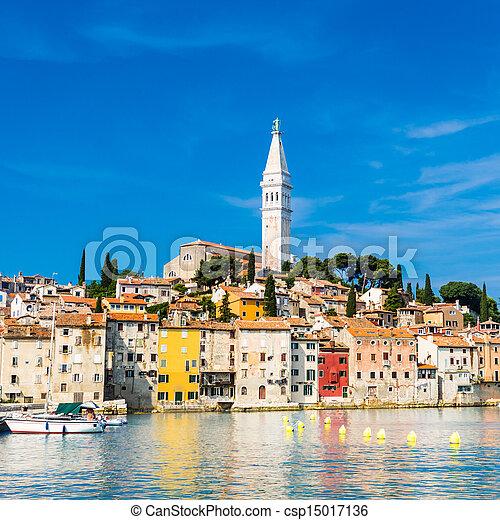 Coastal town of Rovinj, Istria, Croatia. - csp15017136