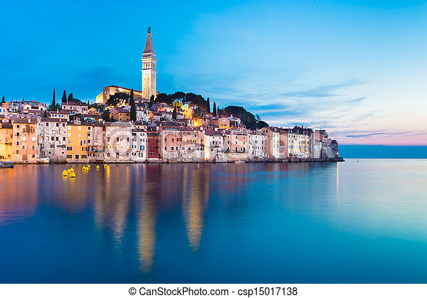 Coastal town of Rovinj, Istria, Croatia. - csp15017138