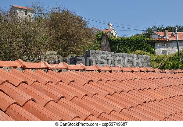 Coastal village houses - csp53743687