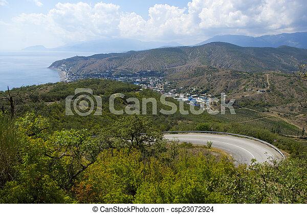Coastal village - csp23072924