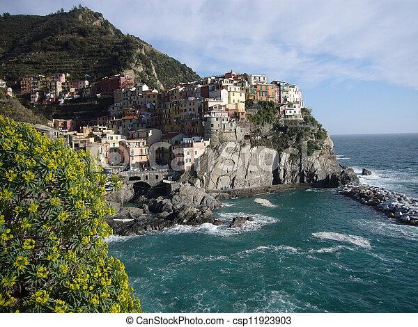 coastal village - csp11923903