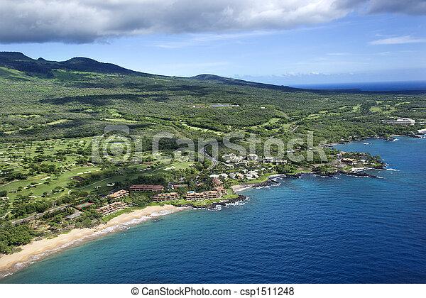 coastline., 航空写真 - csp1511248