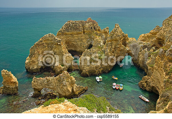 Coastline of Algarve, Portugal - csp5589155