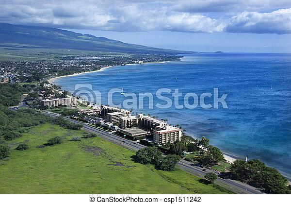 Coastline with resorts. - csp1511242