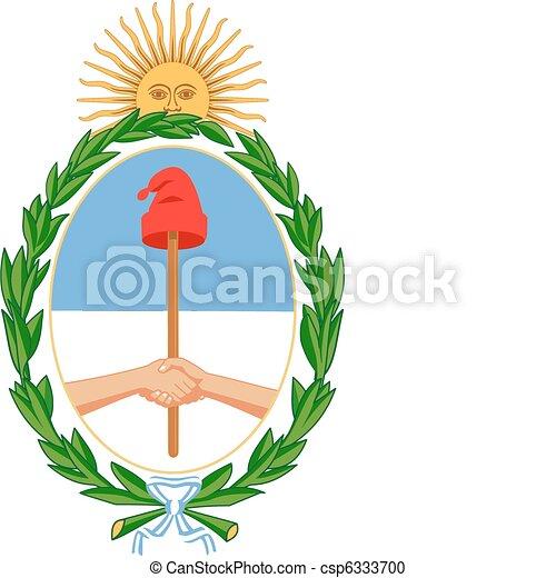 coat of arms Argentina - csp6333700