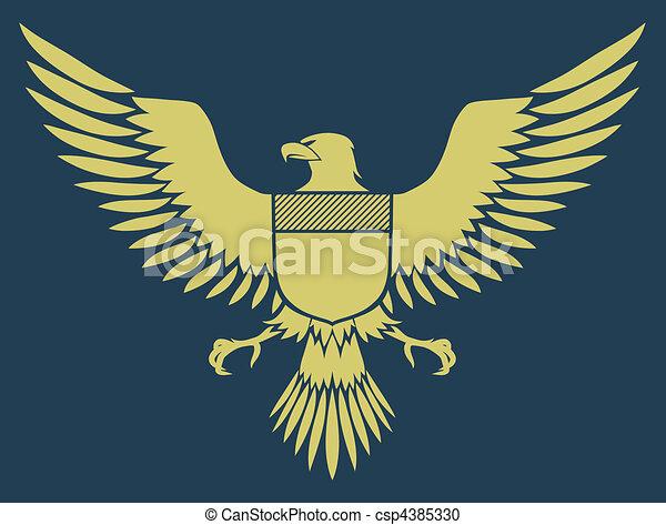 coat-of-arms bird - csp4385330