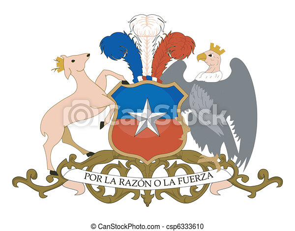 coat of arms of Chile - csp6333610