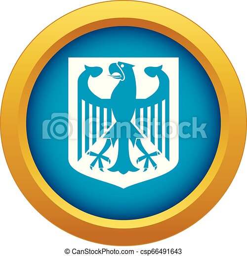Coat of Arms of Germany icon blue vector isolated - csp66491643