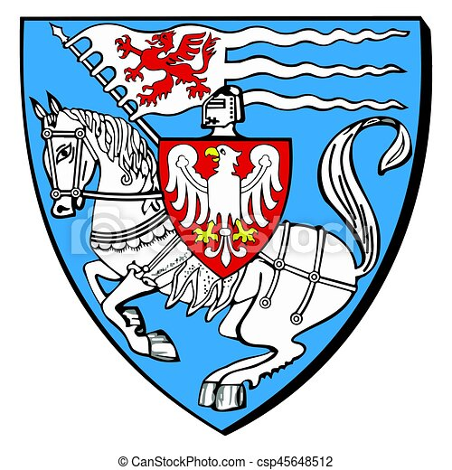 coat of arms of koszalin poland vector format vector clip art rh canstockphoto com coat of arms supporters clipart blank coat of arms clipart