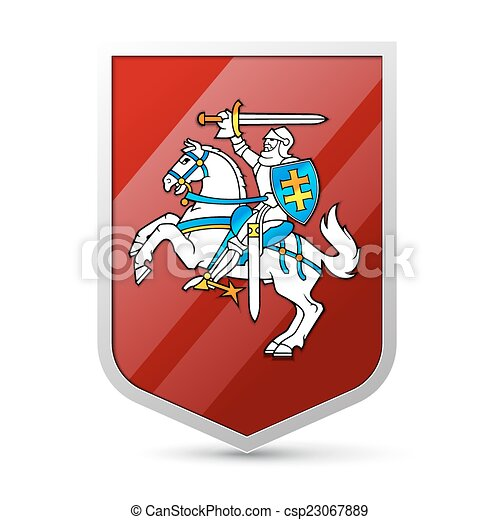 Coat of arms of Lithuania - csp23067889