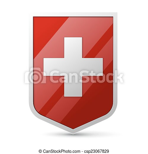 Coat of arms of Switzerland - csp23067829